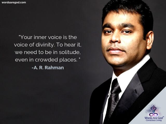 A. R. Rahman wisdom Quotes