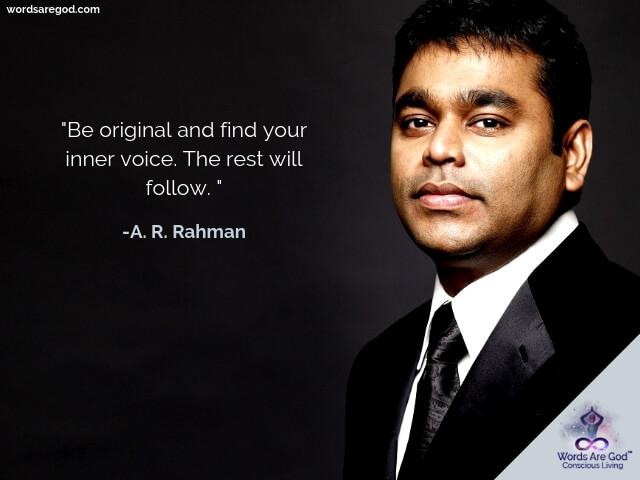 A. R. Rahman music Quotes