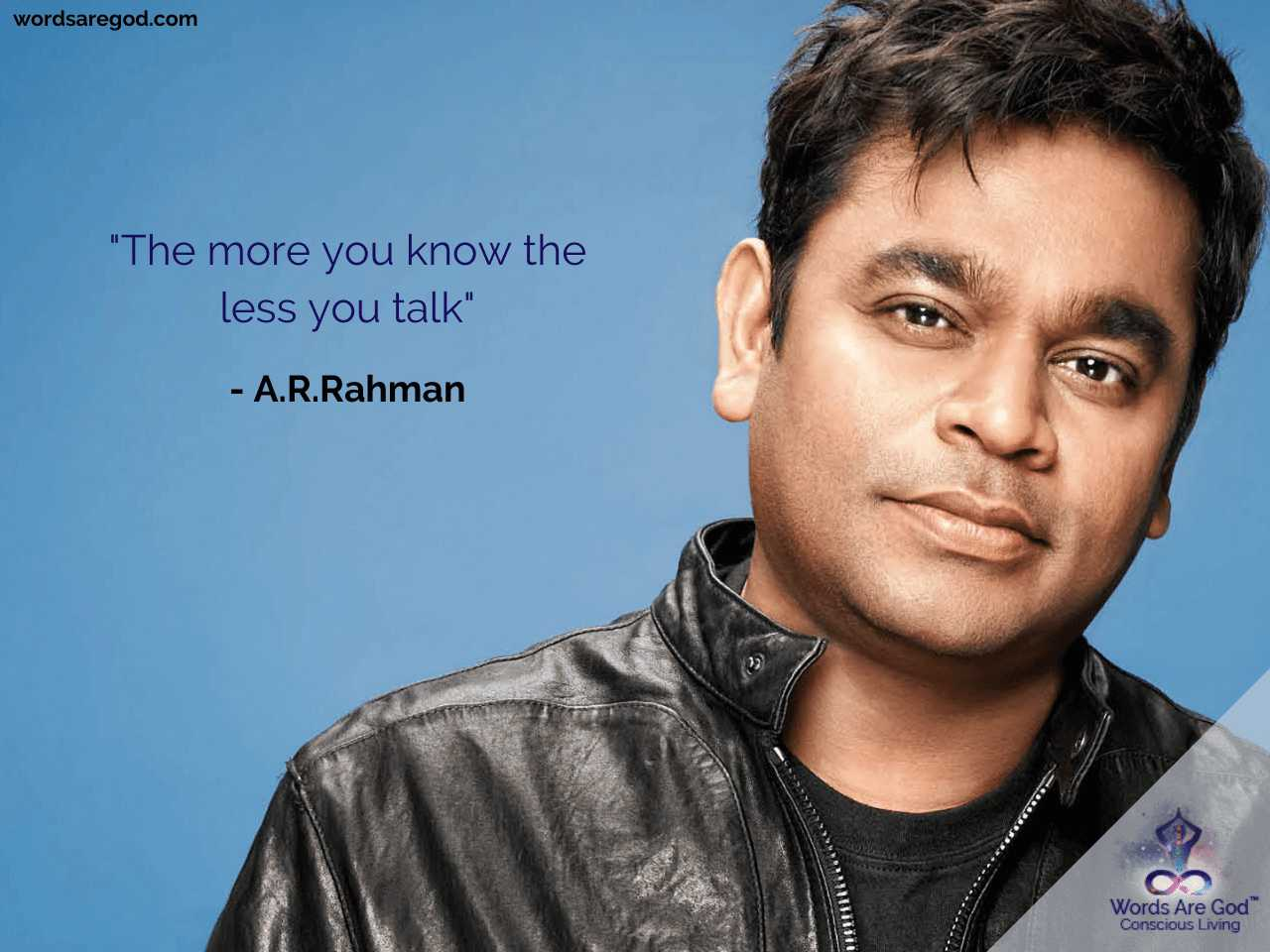 A.R.Rahman Life Quote