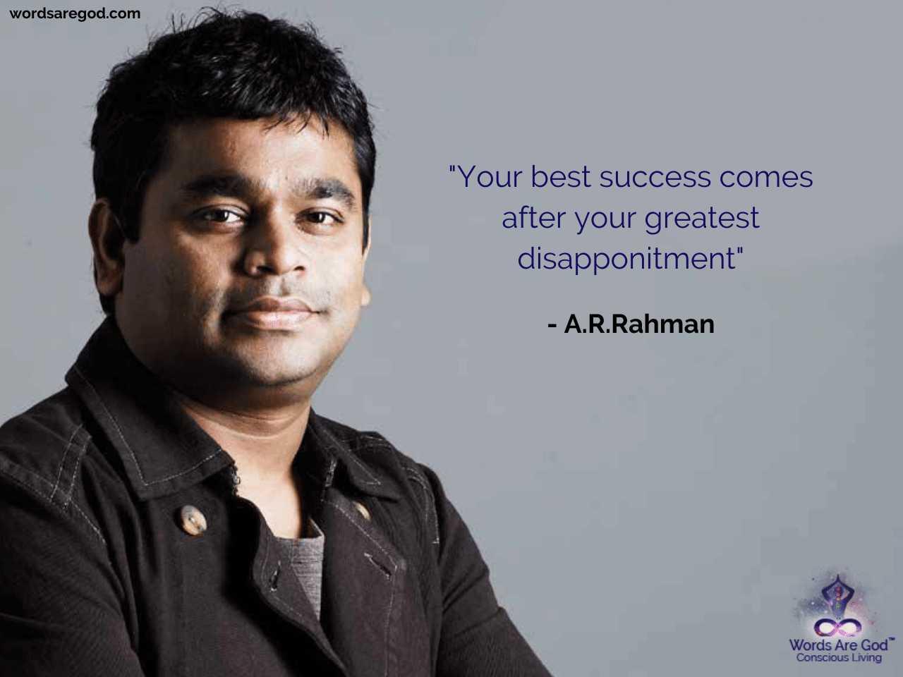 A.R.Rahman Music Quote