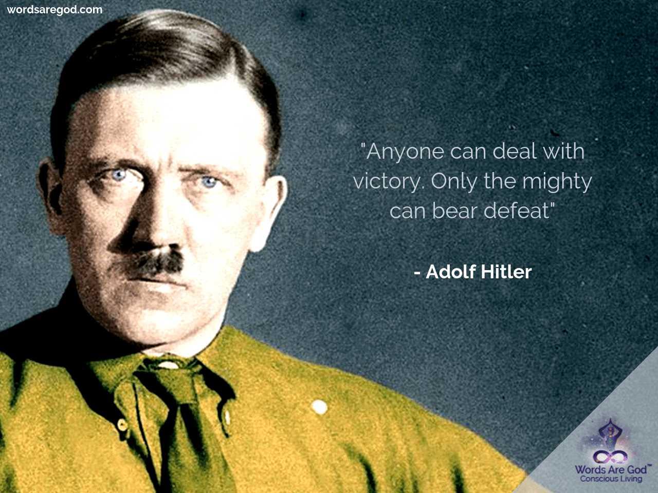 Adolf Hitler Life Quote