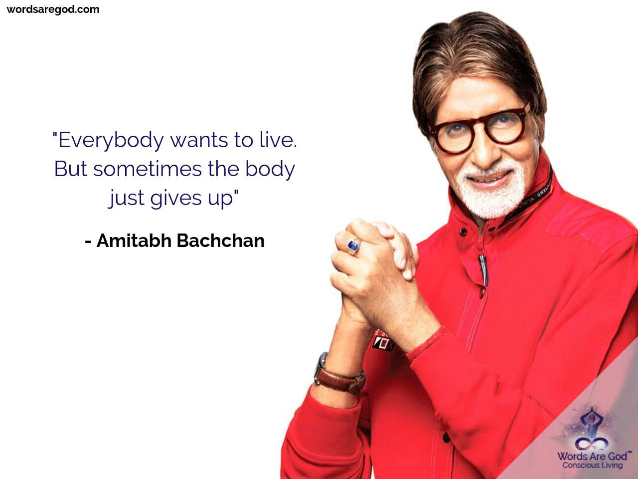 Amitabh Bachchan Inspirational Quote