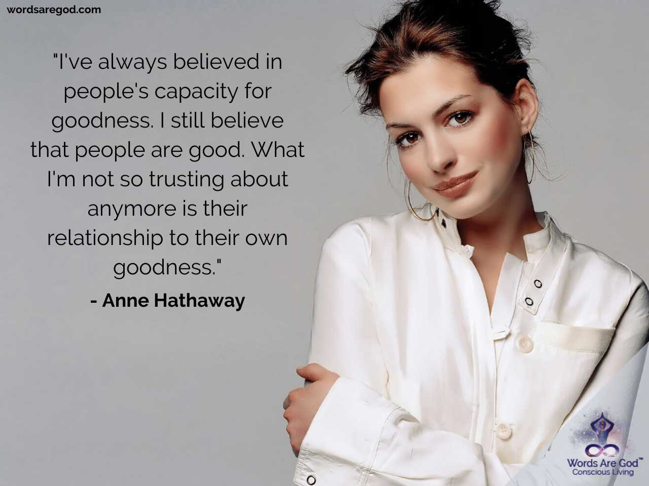 Anne Hathaway Motivational Quotes by Anne Hathaway