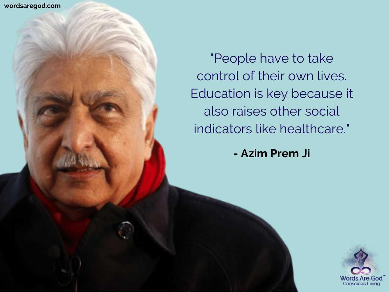 Azim Prem Ji Life Quote