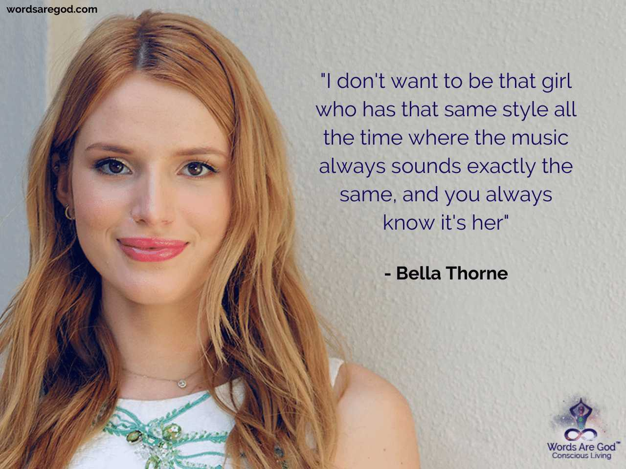 Bella Thorne Motivational Quote by Bella Thorne