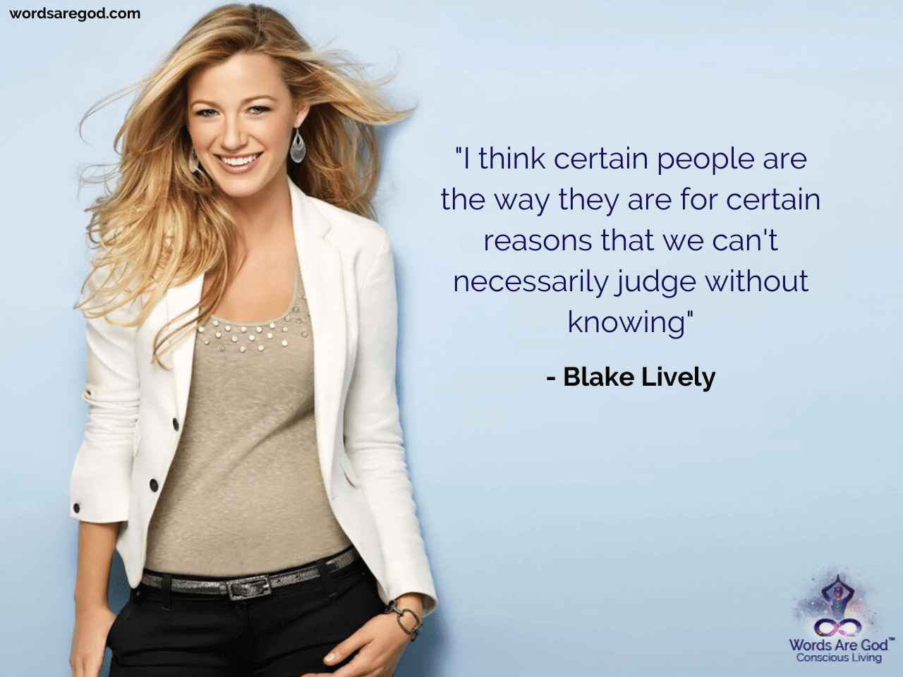Blake Lively Best Quote