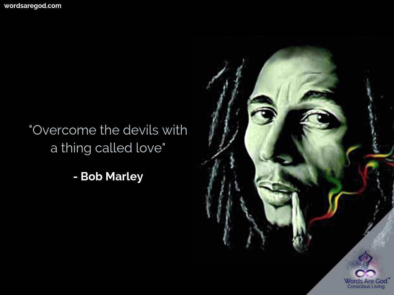Bob Marley Inspirational Quote by Bob Marley