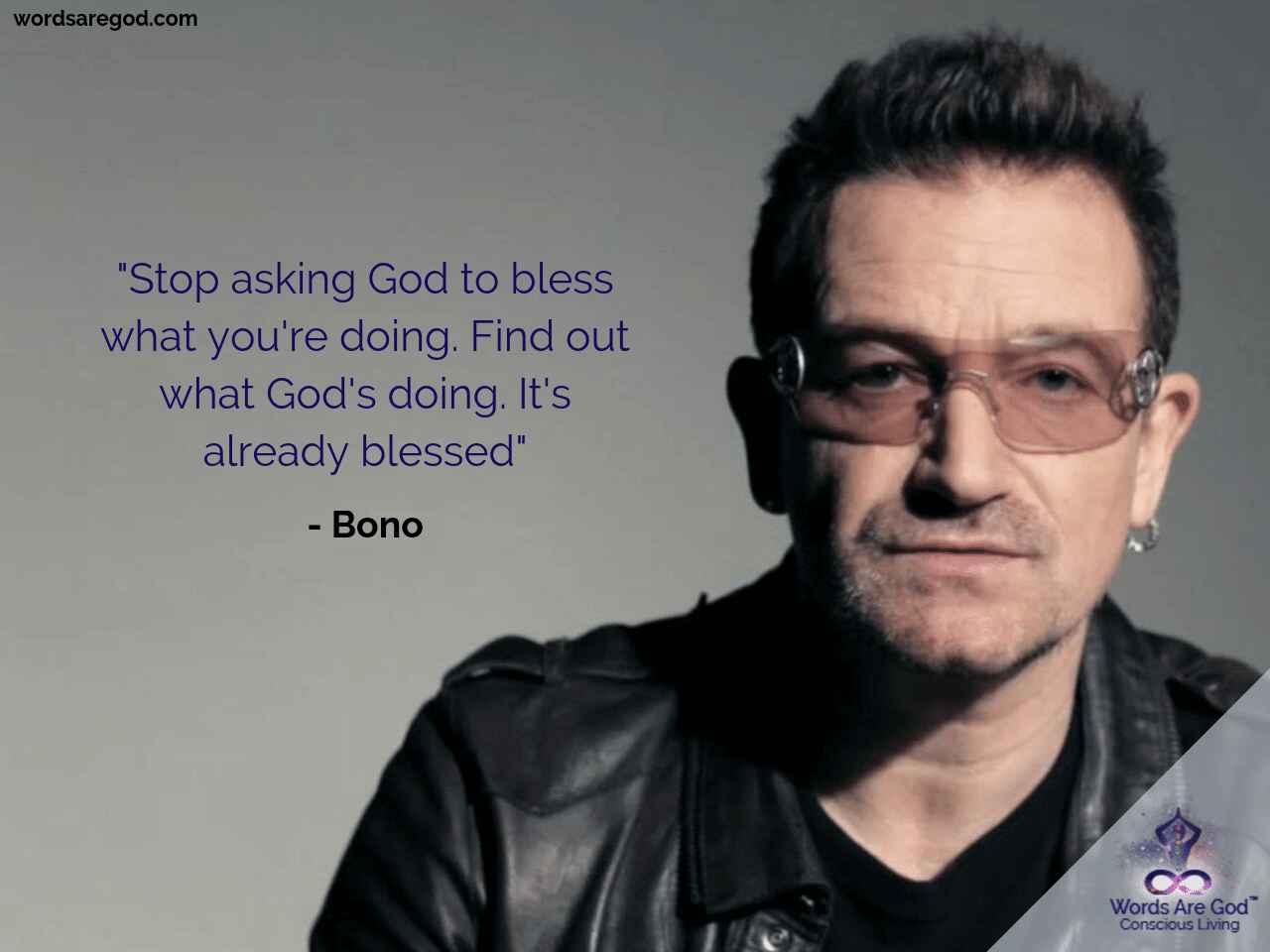 Bono Motivational quote