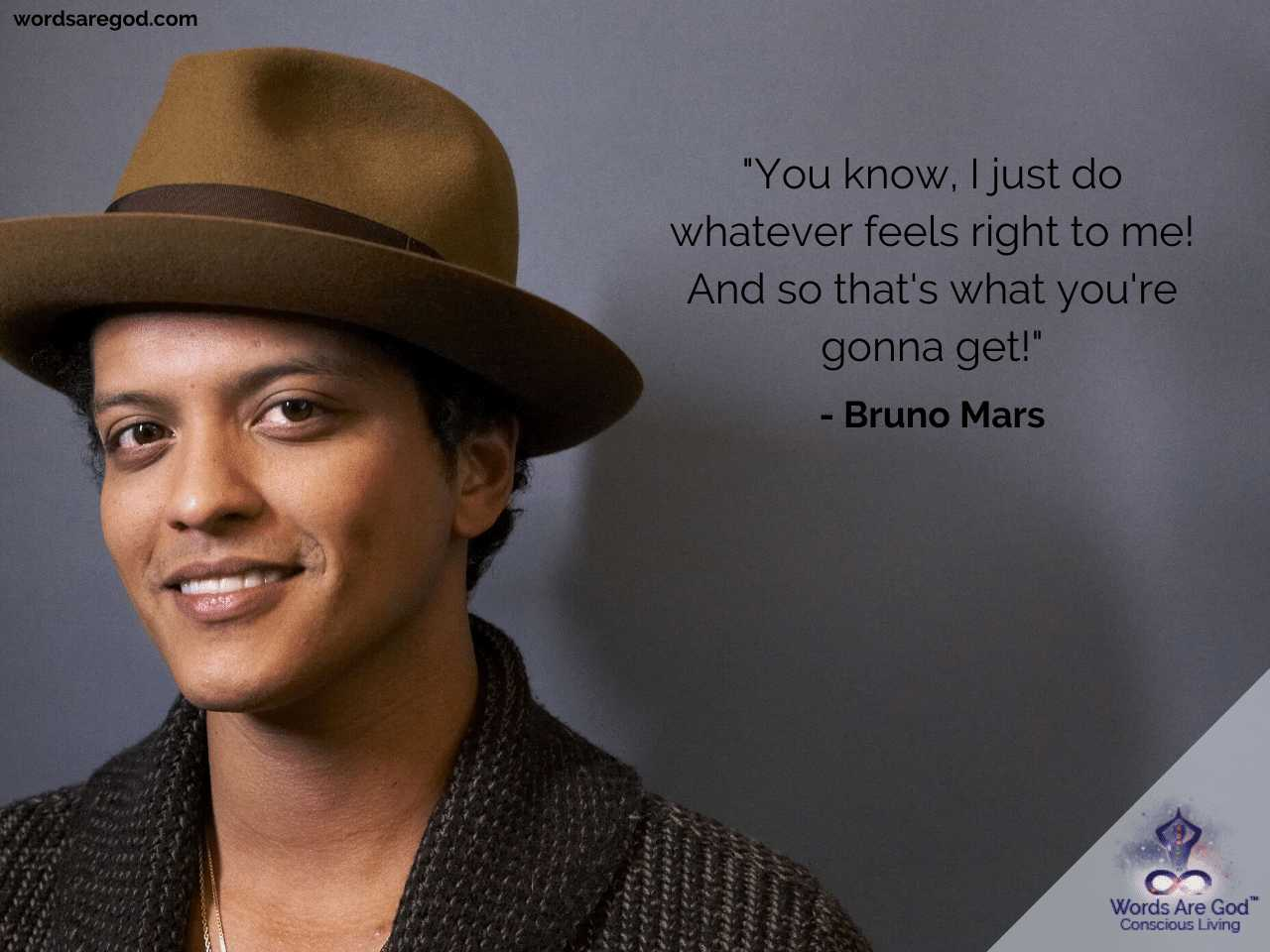 Bruno Mars Motivational Quote by Bruno Mars