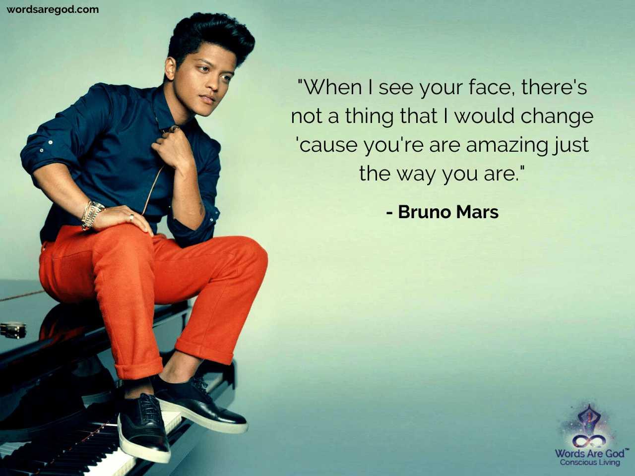 Bruno Mars Motivational Quote
