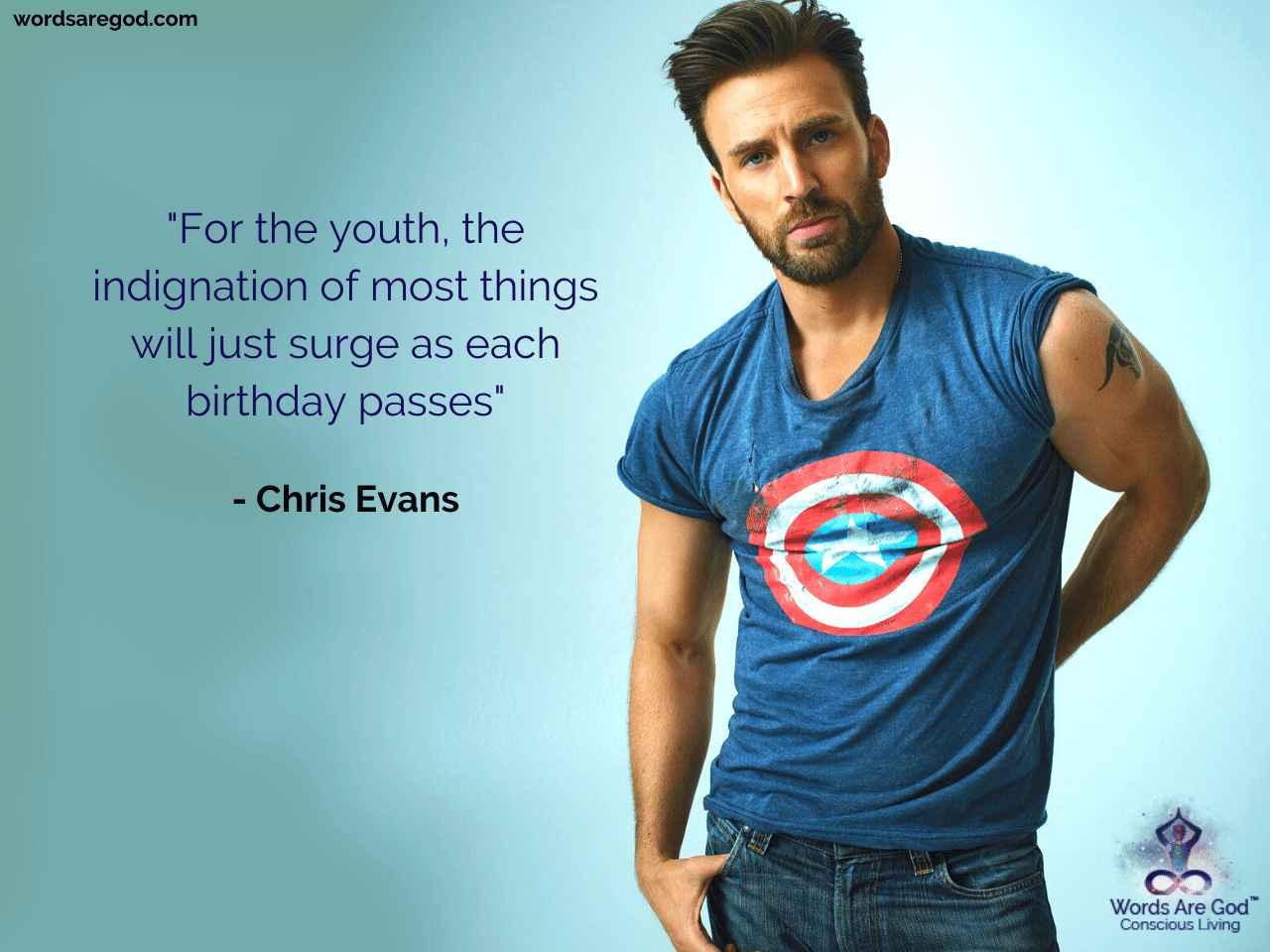 Chris Evans Best Quote
