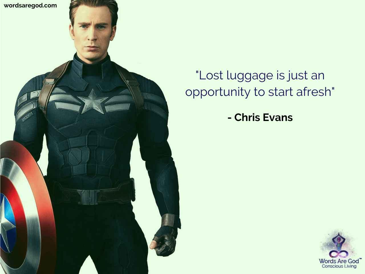 Chris Evans Inspirational Quote