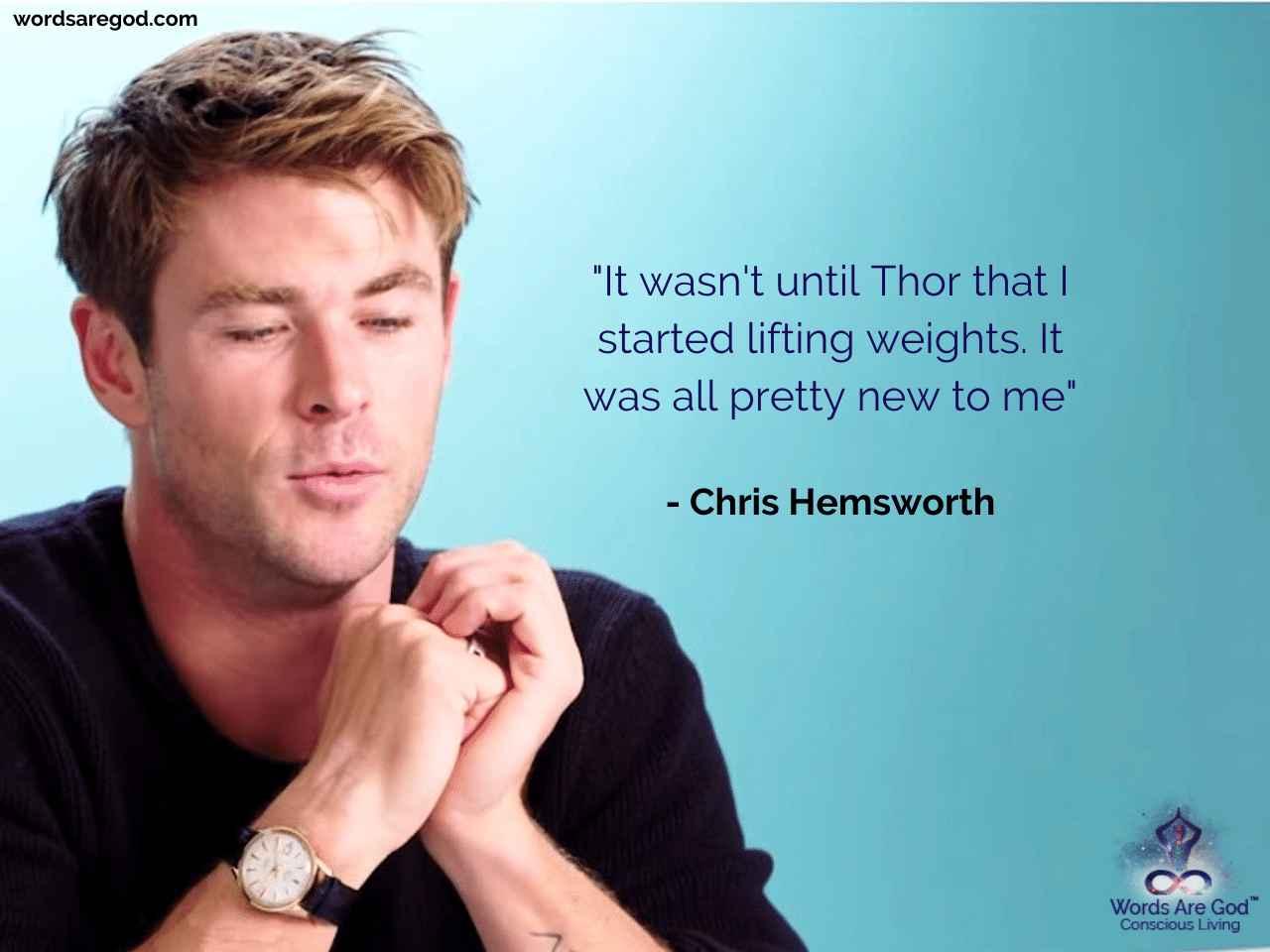 Chris Hemsworth Best Quotes