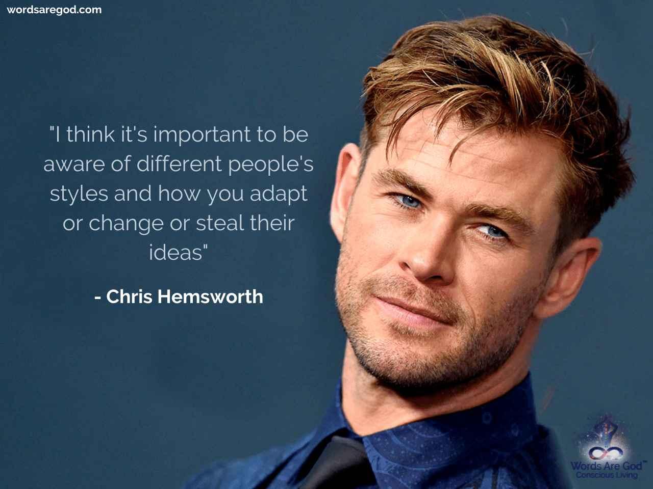 Chris Hemsworth Motivational Quotes