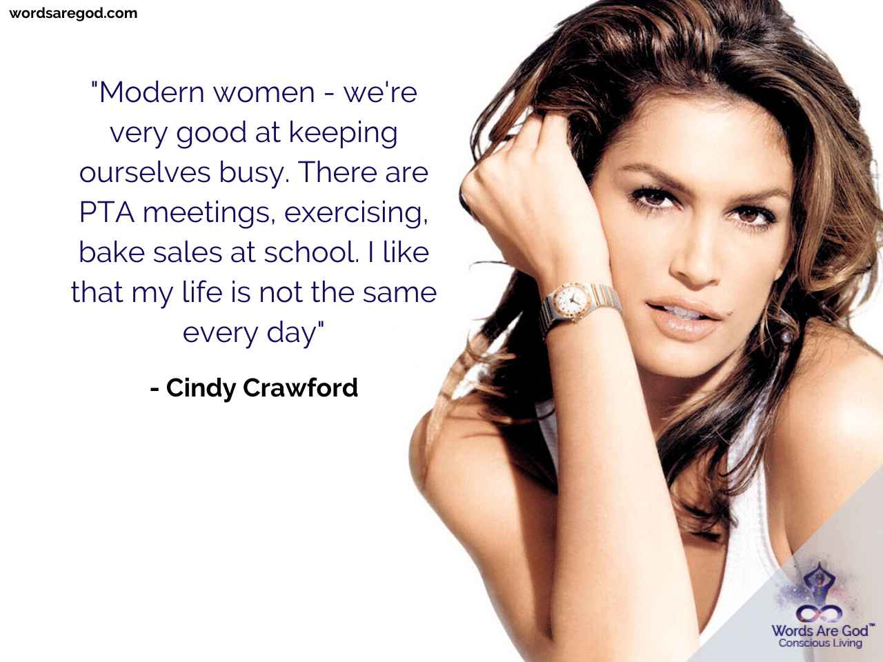 Cindy Crawford Life Quote