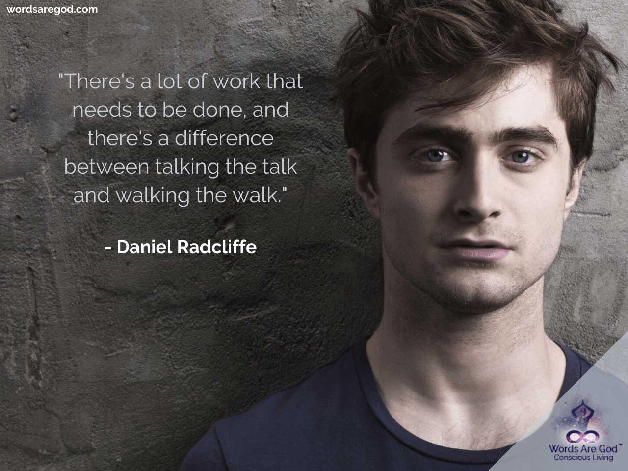 Daniel Radcliffe Motivational Quotes by Daniel Radcliffe