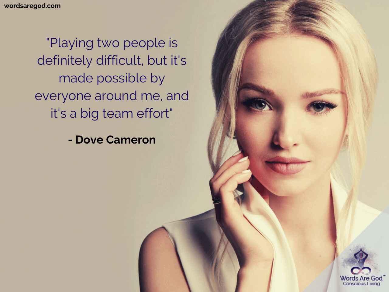 Dove Cameron Music Quote