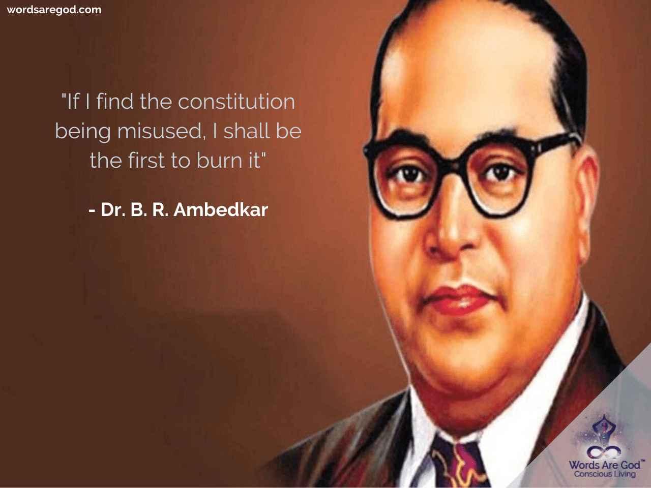 Dr. B. R. Ambedkar   Inspirational Quote