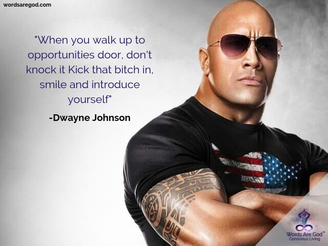 Dwayne Johnson Motivational Quotes by Dwayne Johnson
