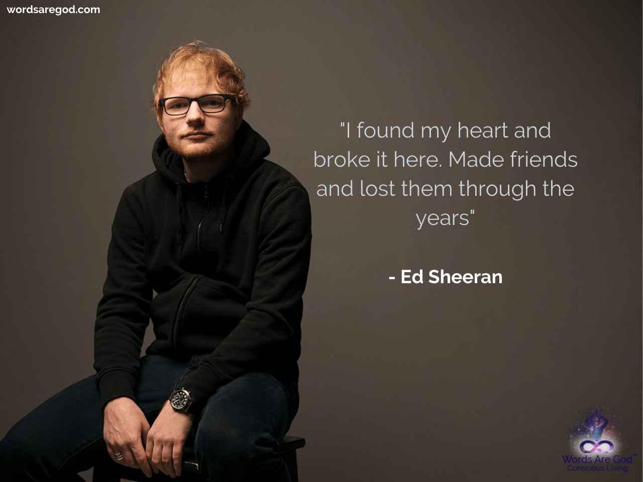 Ed Sheeran Music Quotes