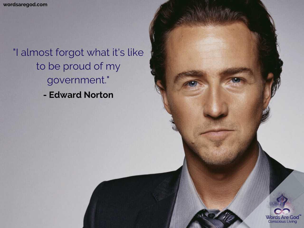 Edward Norton Motivational Quotes by Edward Norton