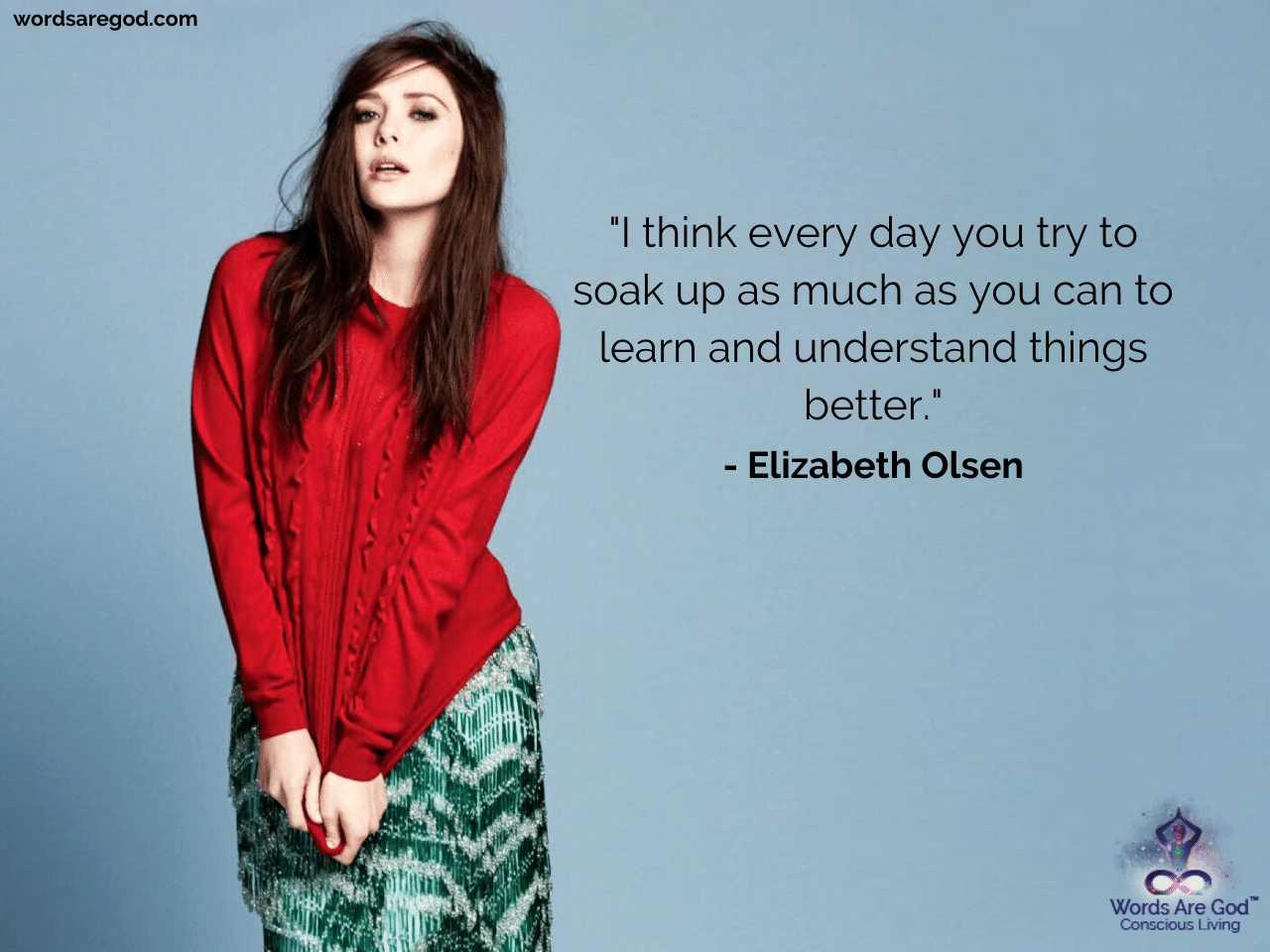 Elizabeth Olsen Best Quotes