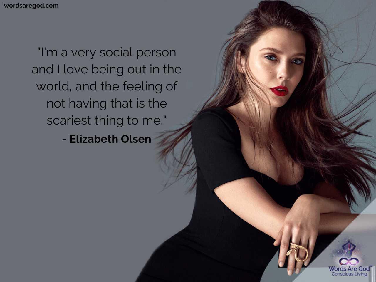 Elizabeth Olsen Best Quotes by Elizabeth Olsen