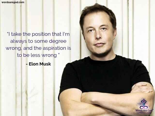 Elon Musk Inspirational Quote by Elon Musk