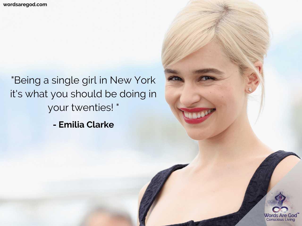 Emilia Clarke Inspirational Quotes