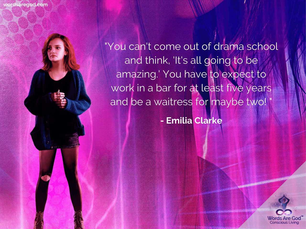 Emilia Clarke Life Quotes
