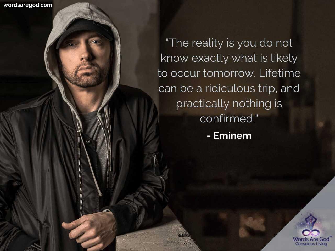 Eminem Inspirational Quotes by Eminem