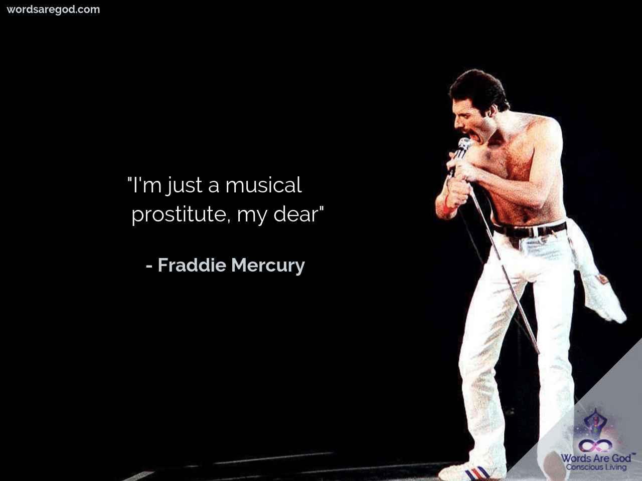 Freddie Mercury Motivational quote