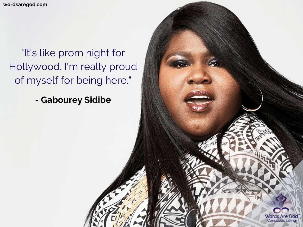 Gabourey Sidibe Inspirational Quote by Gabourey Sidibe