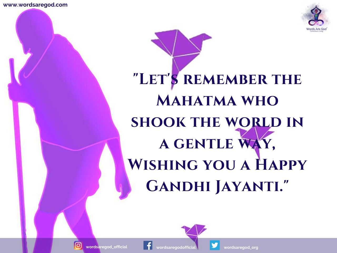 Gandhi Jayanti 2020 by Events and Festival