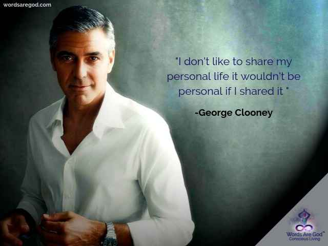 George Clooney Inspirational Quote