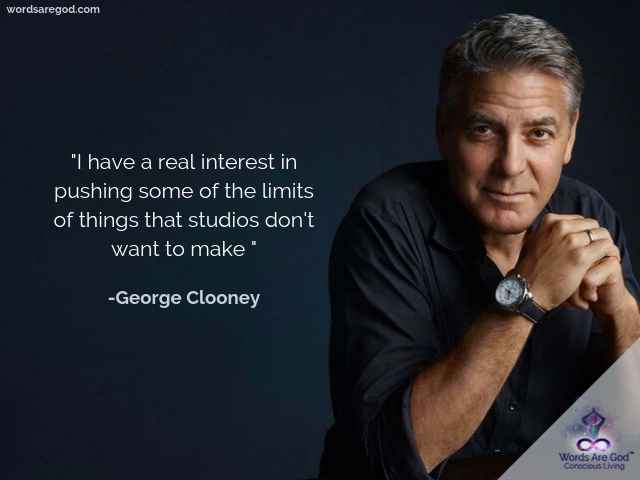 George Cloonry Motivational Quote