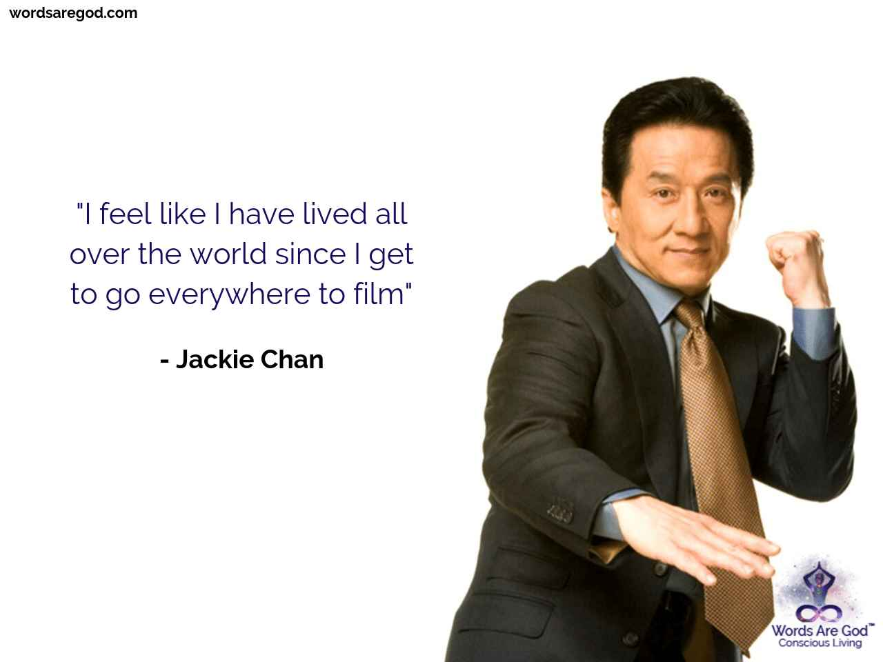 Jackie Chan Inspirational Quote