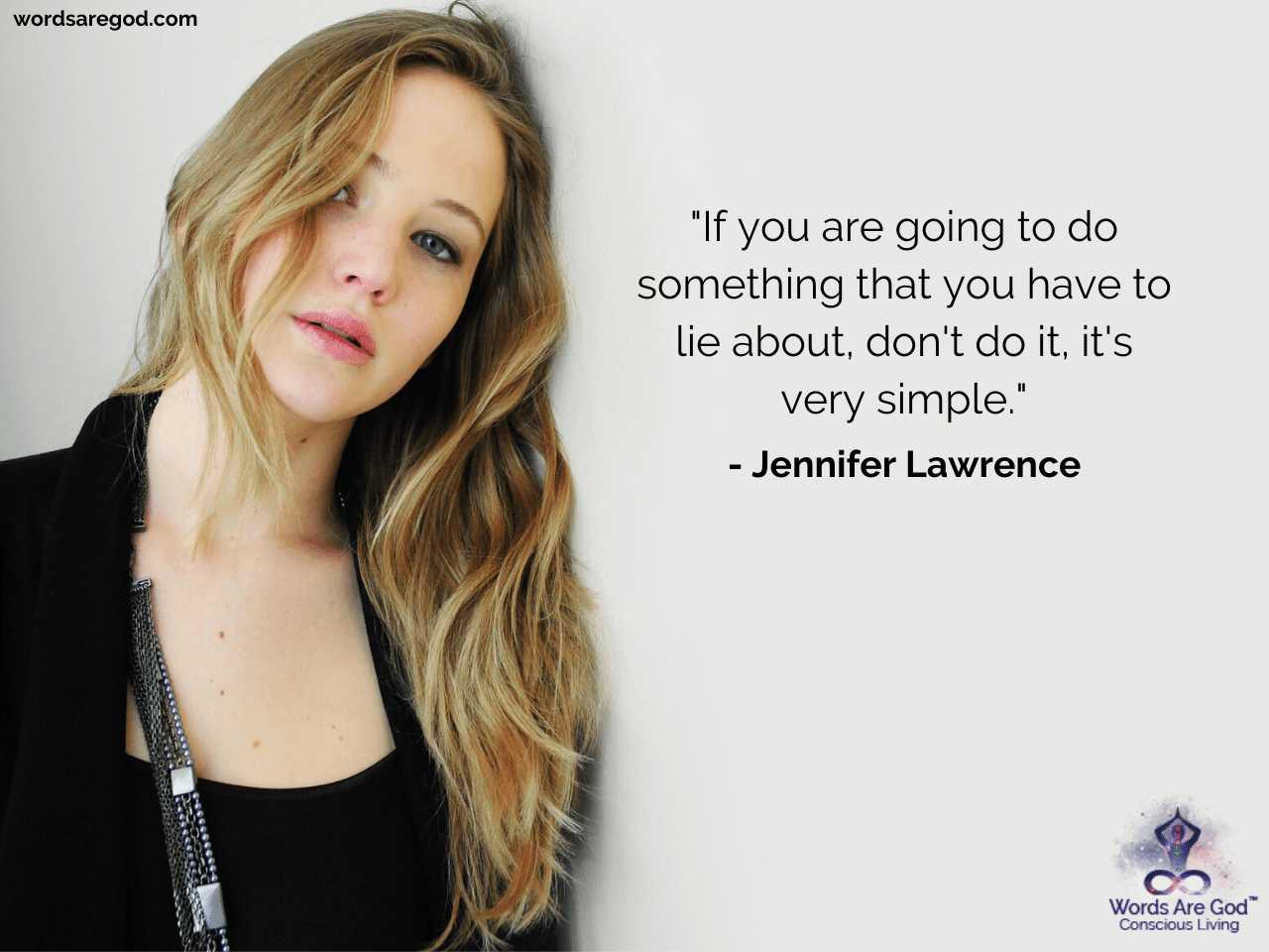Jennifer Lawrence Inspirational Quotes by Jennifer Lawrence