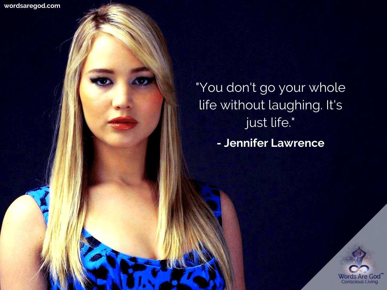 Jennifer Lawrence Motivational Quotes by Jennifer Lawrence