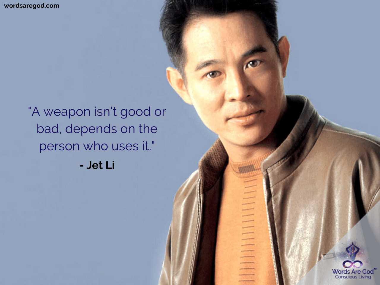 Jet Li Inspirational Quotes