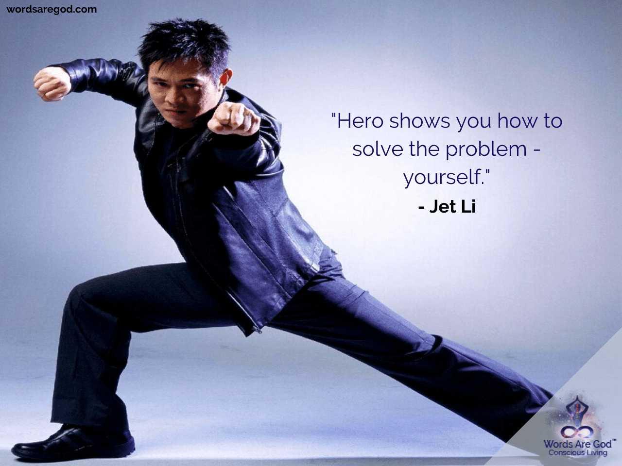 Jet Li Motivational Quotes by Jet Li