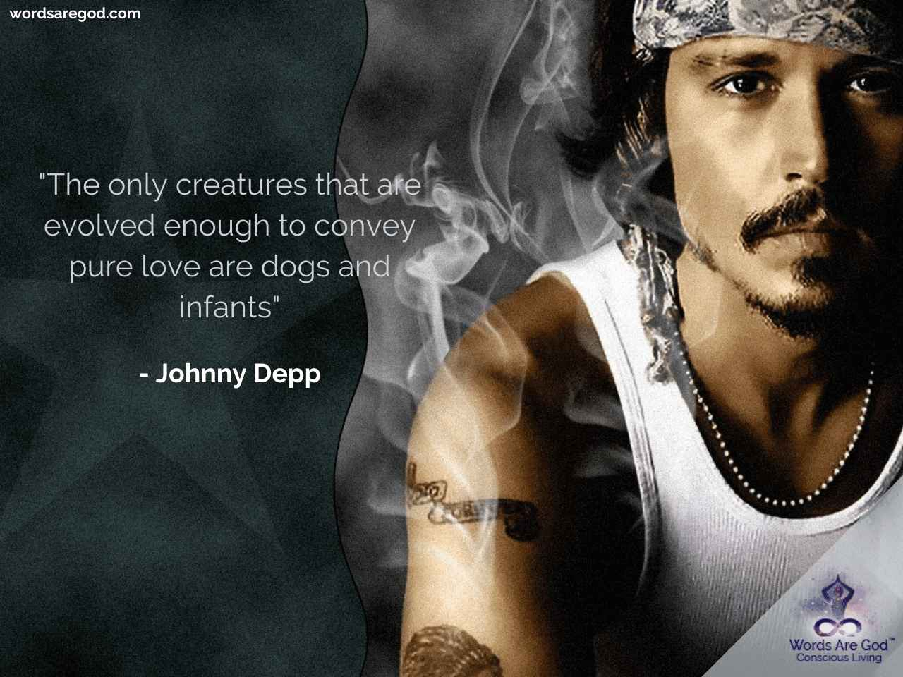 Johnny Depp Motivational Quote by Johnny Depp