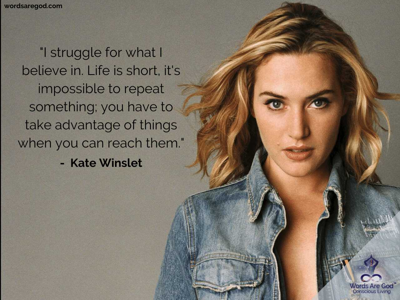 Kate Winslet Motivational Quotes by Kate Winslet
