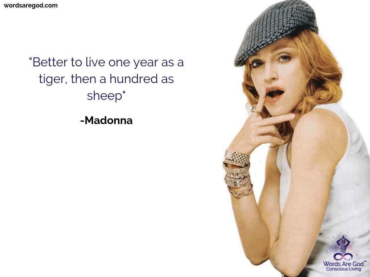Madonna Inspirational Quote
