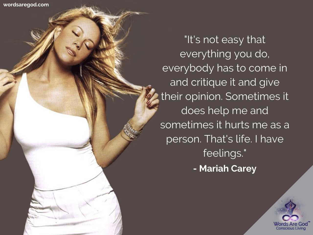 Mariah Carey Motivational Quotes