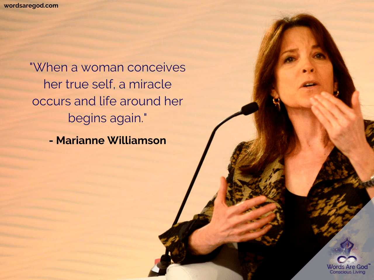 Marianne Williamson Inspirational Quote by Marianne Williamson