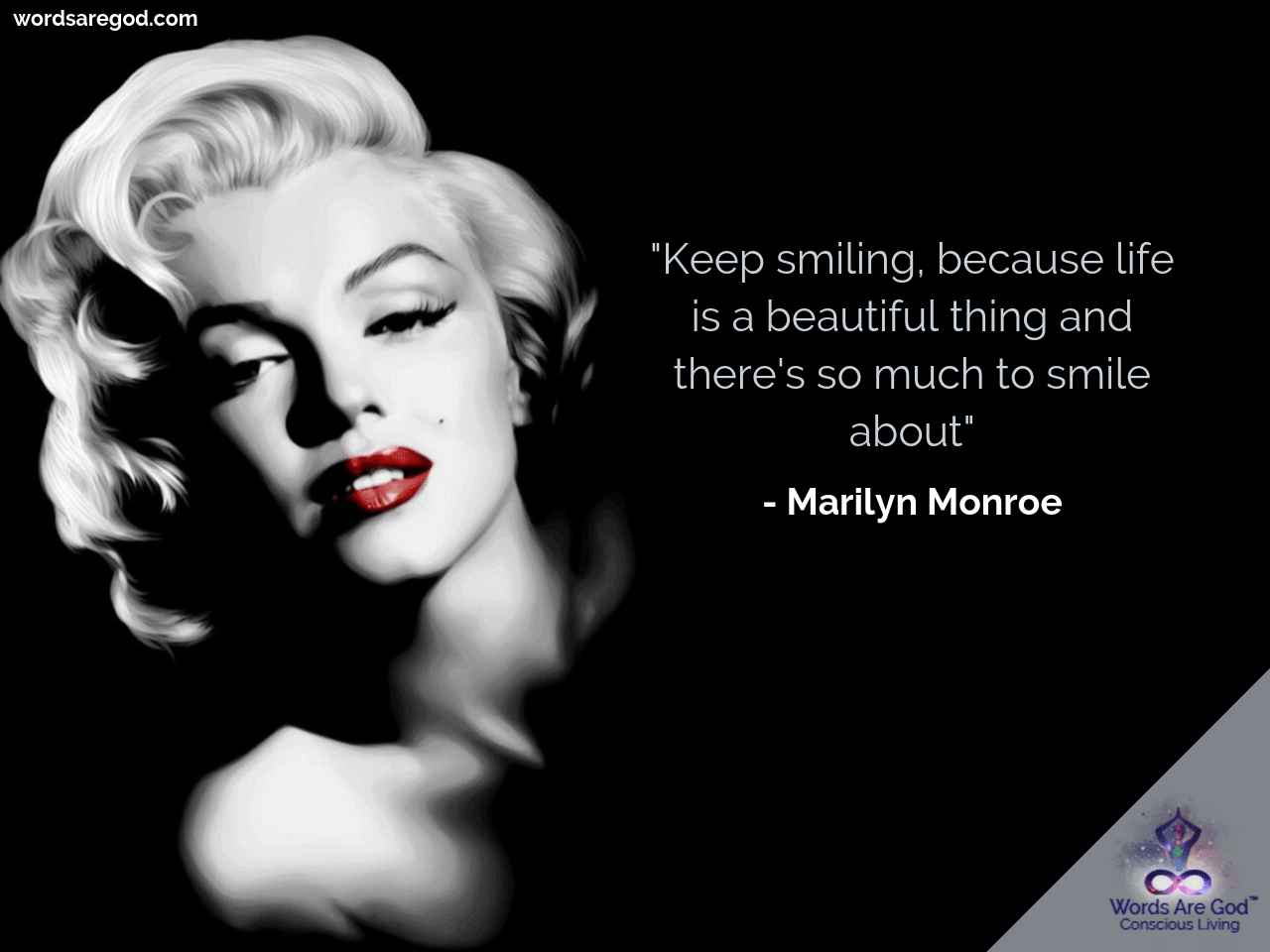 Marilyn Monroe Inspirational Quote by Marilyn Monroe