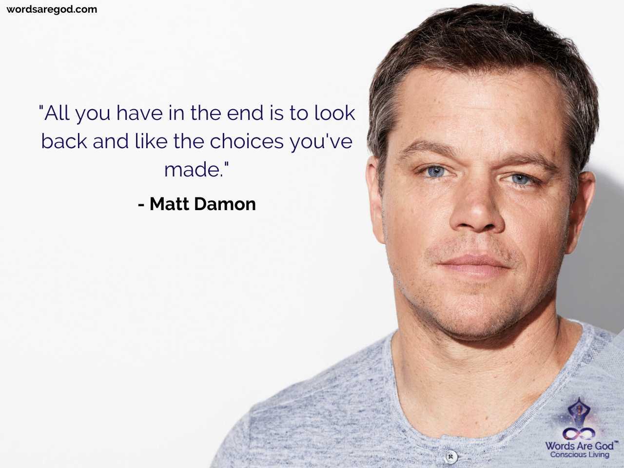 Matt Damon Motivational Quote
