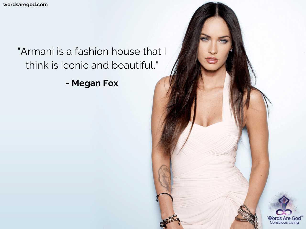 Megan Fox Inspirational Quote by Megan Fox