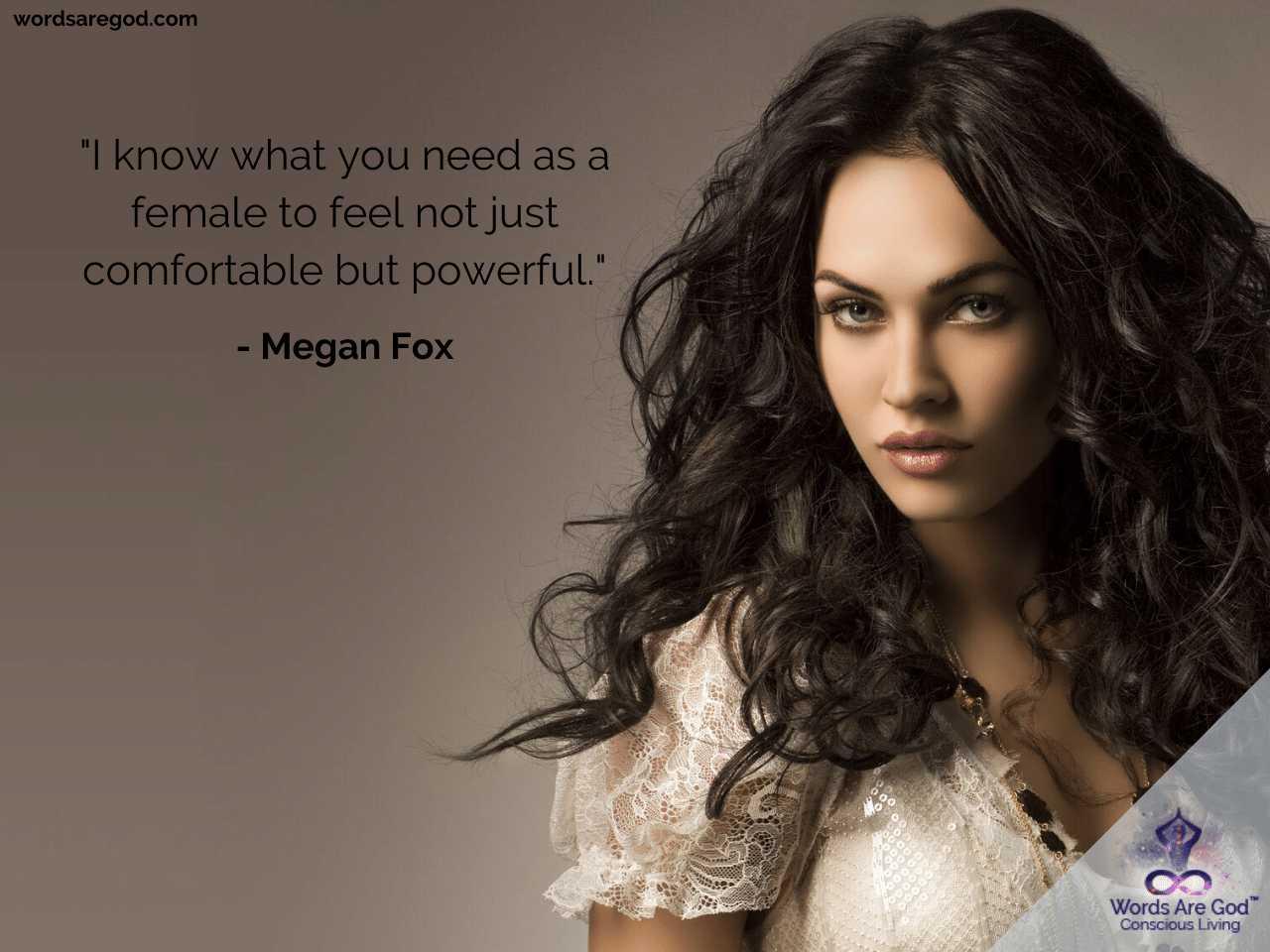 Megan Fox Life Quote